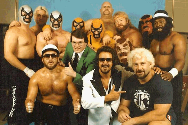 Jimmy Hart & the First Family in 1983 (Photo by Jim Cornette)